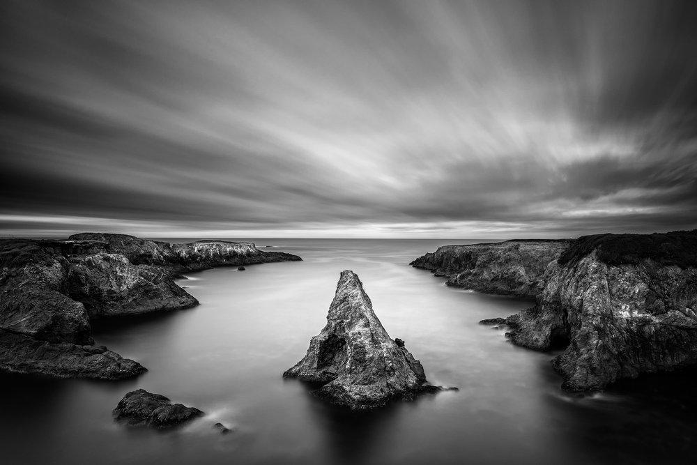 Mendocino Headlands Evening (BW5367)