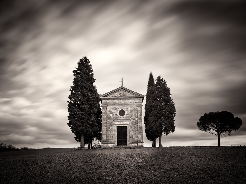 Vitaleta Chapel Study - Tuscany, Italy