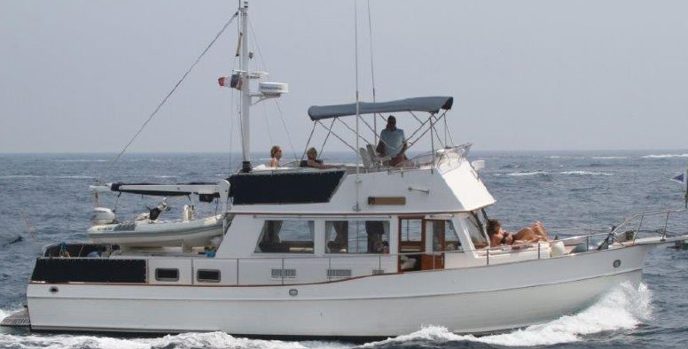 The venerable Grand Banks 42 Classic. Once at the center of the trawler community, today's buyers are not interested in the associated maintenance of this dependable diesel cruiser.