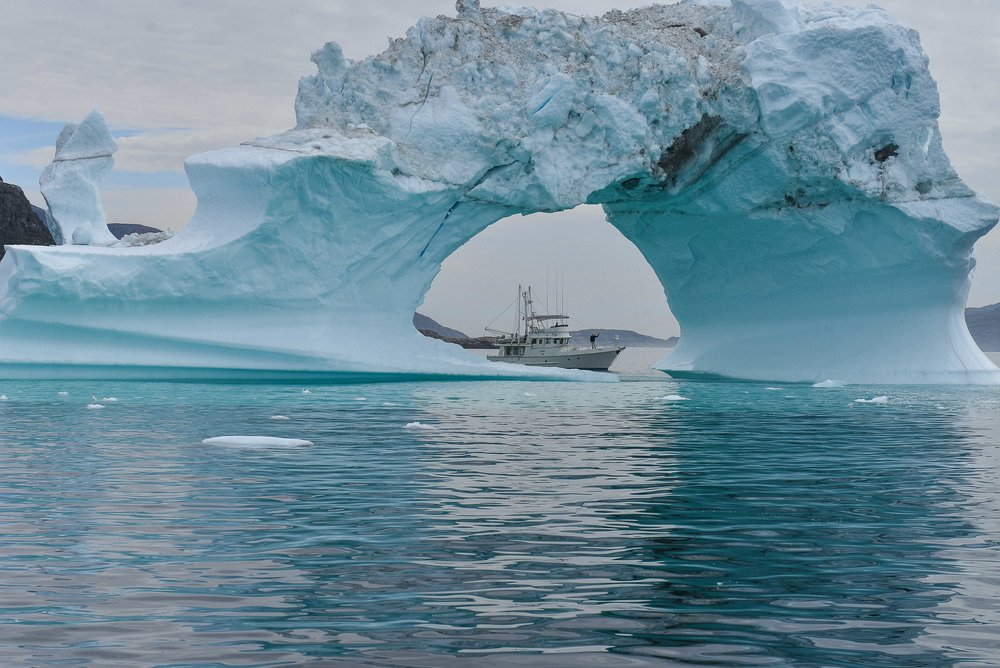 The Flanders enjoyed high latitude cruising aboard  Egret , a very well traveled Nordhavn 46. Their voyages earned them the 2015 Royal Cruising Club Trophy from the Cruising Club of America.