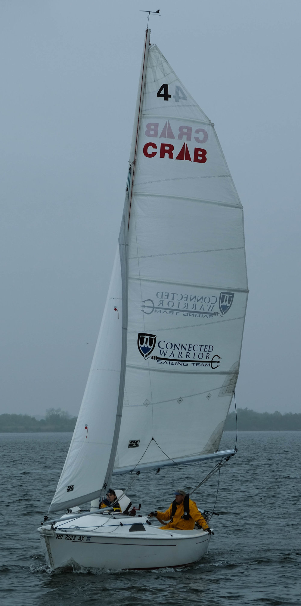 One of the specially modified CRAB sailboats allows disabled sailors to operate a boat and experience the sense of freedom inherent to the sport.
