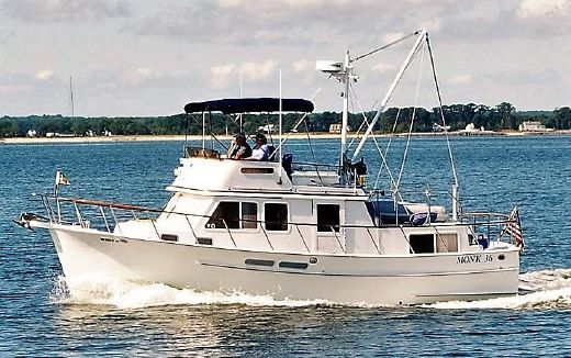 There are so many trawlers and other boats that are comfortable, reliable, economical, and perfect for doing the Great Loop and exploring the Bahamas. Many have told me that a boat like this Monk 36 is ideal for two people to winter in the Bahamas. The key is to find the smallest boat that is big enough.