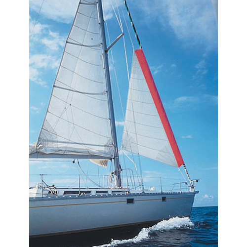 The innovative Gale Sail is a storm sail that fits over a furled headsail.
