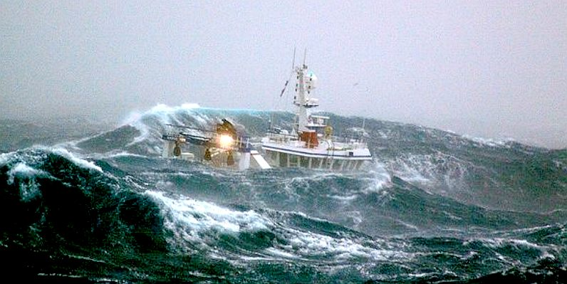 Not conditions for pleasure boating but it is nice to know one's vessel can handle heavy weather.