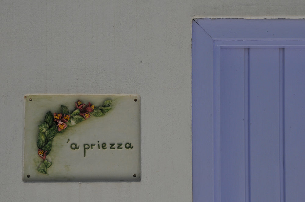 I don't remember what this particular ceramic was all about but signs like this were scattered all thru Ponza's streets.