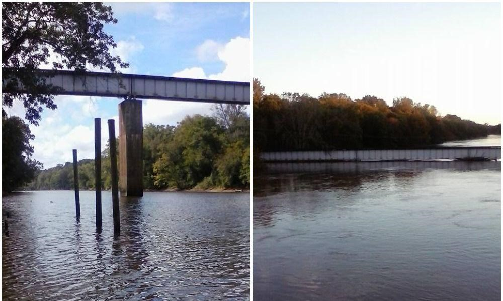 How much water does it take to make a river rise over 61 feet? And now what is left floating or submerged?