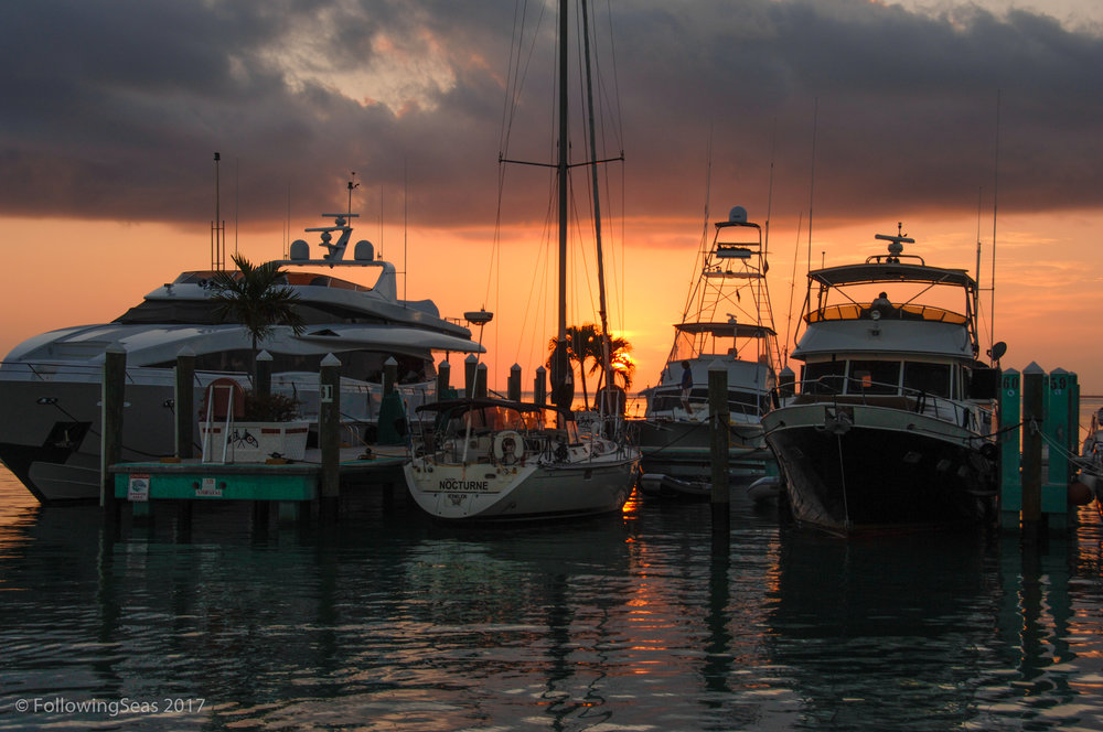 Who would prefer cold, snow, and ice over a lovely sunset in Marathon in the Florida Keys?
