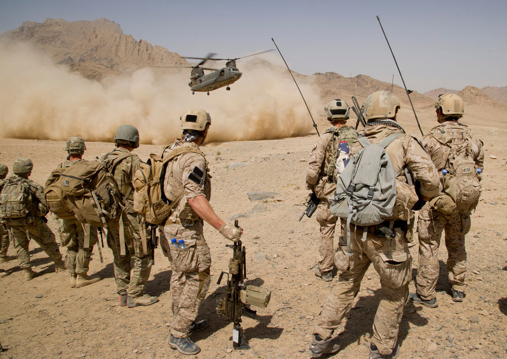Navy SEALS deployed in one of our current conflicts.