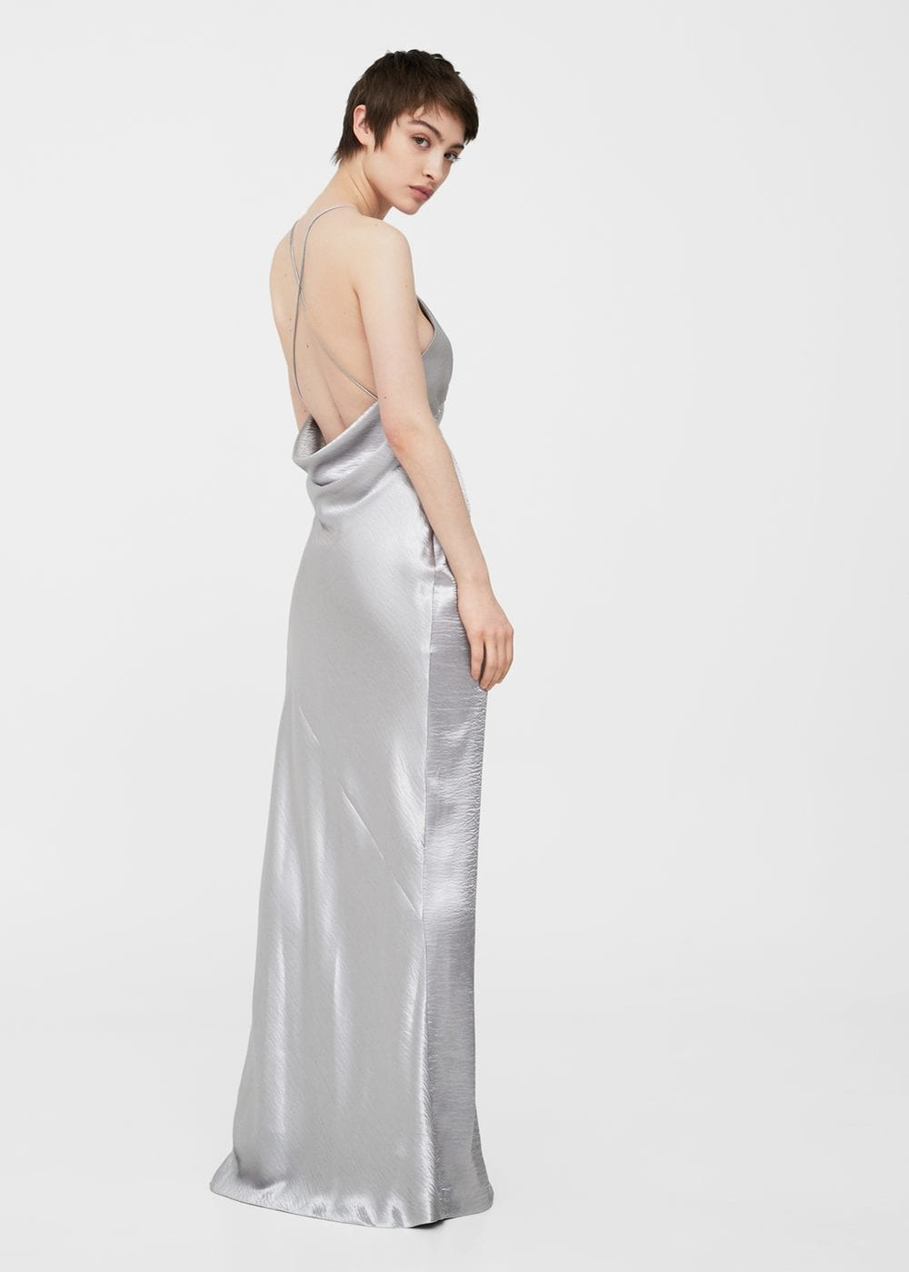 Metallic Gown  from Mango