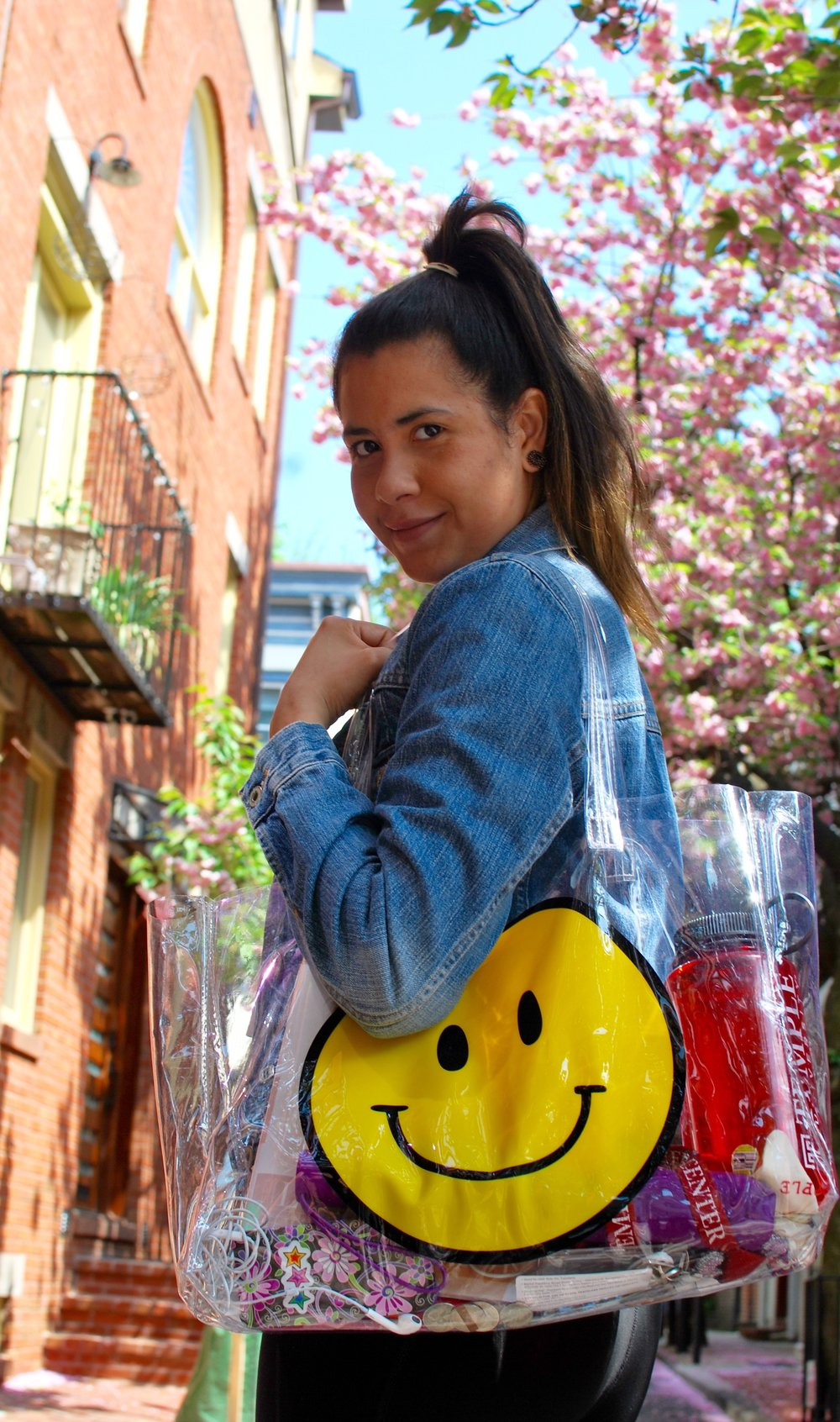 Carmen accessories denim with a smile