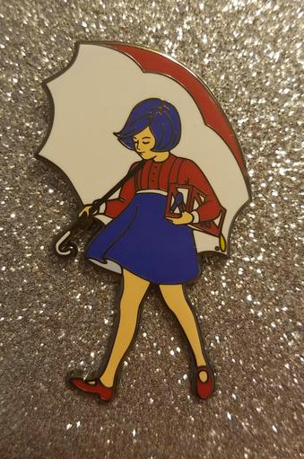 PBR/Morton Salt Girl Pin from Etsy