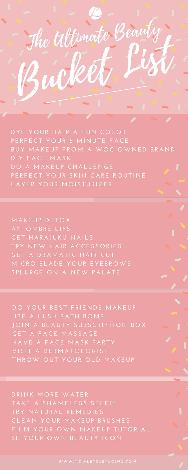 The Ultimate Beauty Bucket List