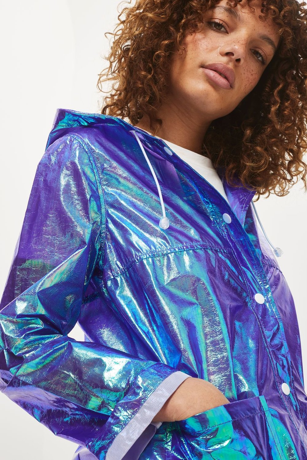 Metallic Mac Jacket  - Topshop USA - $75