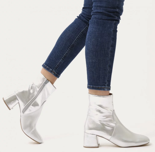Blu Squared Toe Block Heel Ankle Boots  - Public Desire - $59.99