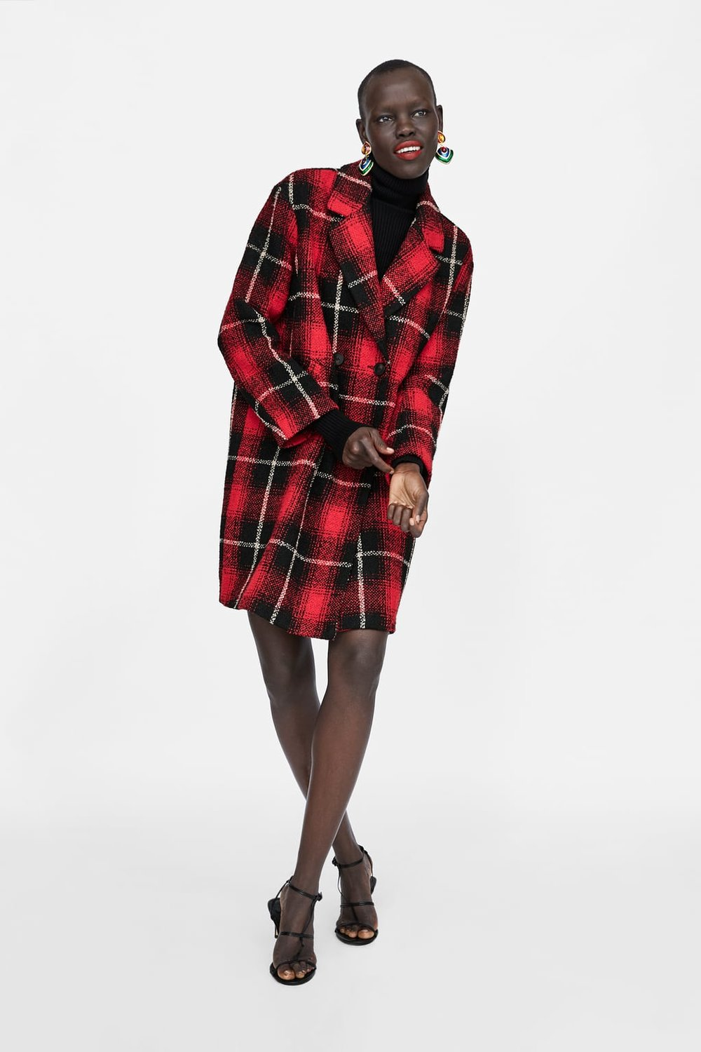 Plaid Coat from Zara - $99.90