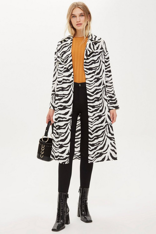 Zebra Print Duster Jacket - $110