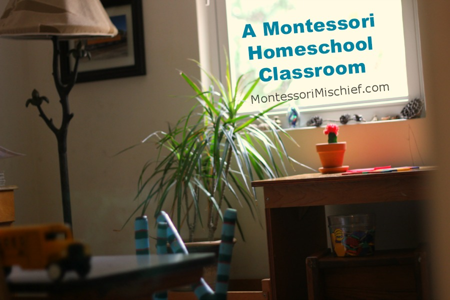 A Montessori Homeschool Classroom - a peek inside a classroom created for a 3 year old and 6 year old