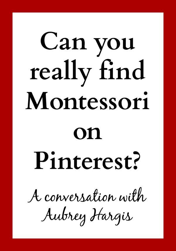 finding Montessori on Pinterest2