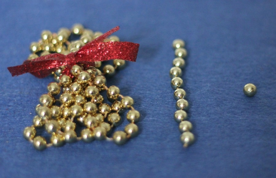 The easiest DIY golden beads you'll ever make! - from Montessori Mischief