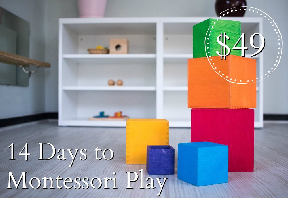 14 Days to Montessori Play - An exploration of quality toys and activities for 0 to 3 year olds
