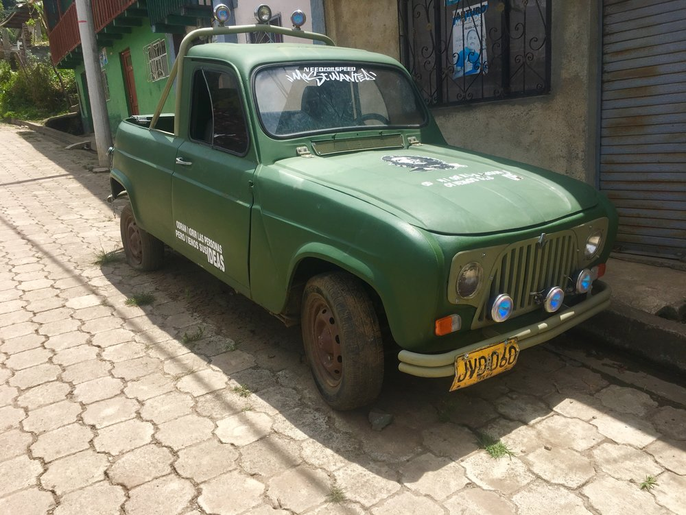 One of Fernando's prized possessions, a 1980 Renault Four.