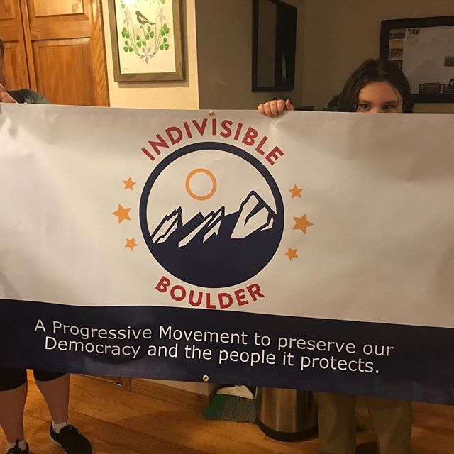Marching banner came in today! Can't wait to join Indivisibles across Colorado for our march on 1/20! #TheResistanceIsReal #MarchToThe2018Midterms #IndivisibleBoulder @indivisibleteam #IndivisibleCO