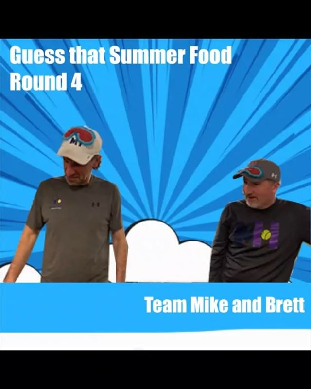 """Inspired by The Ellen Show's """"Taste Buds"""" game, we decided to host our own version with the """"Guess that Summertime Food"""" game. Round 4: Coach Mike and Coach Brett. Watch to the end to find out their final time and tune in next Sunday to see which two pros will pair up next to try and beat the fastest time.  _ And don't forget to sign up for Murray Hill summer camp. Week 1 starts June 17th! Link to sign up in bio.  _ #NJsummercamp #summer2019 #NJsummerfun #newprovidenceNJ #tenniscoaches #tastebudsgame #theellenshow #tennisfun #tennisrunsinourblood #2019summercamp #njkidstennis #tennisisoursport #njkidstennis #coachMike #coachBrett"""