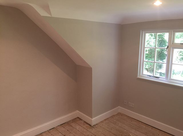 Small bedroom done by Taylor & Sons Painting and Decorating