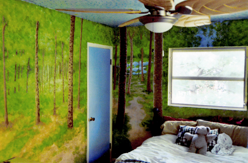 A forest bedroom