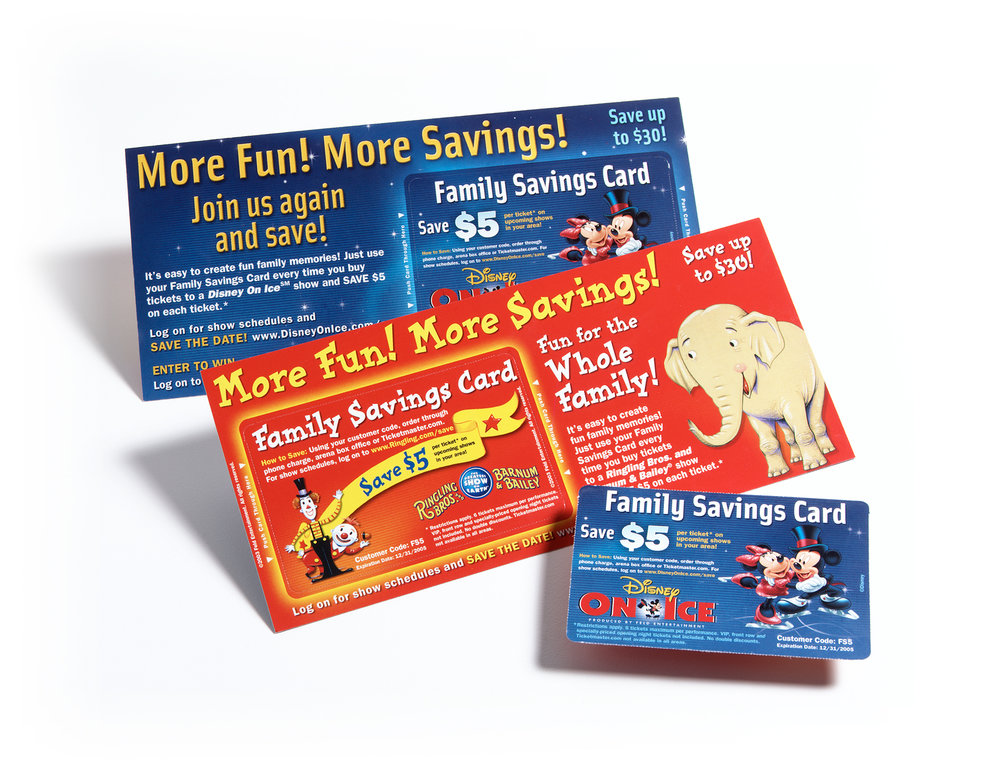 Family savings cards for loyalty marketing initiatives