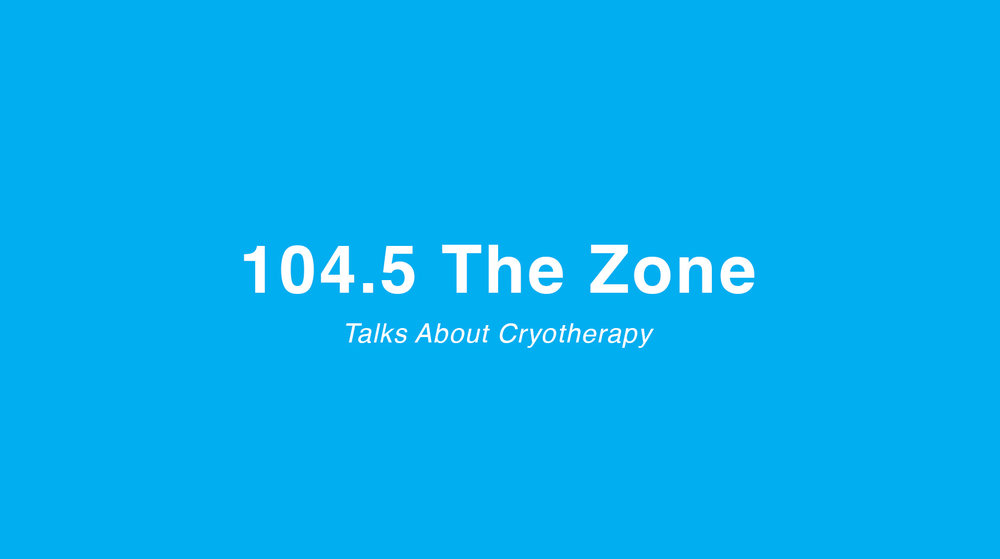 "The CoolSpot Cryotherapy Co-Owner, Josh Rogers, talks with Virgil Herring of 104.5 ""The Zone"" about Whole Body Cryotherapy. (Skip to 35:20)"