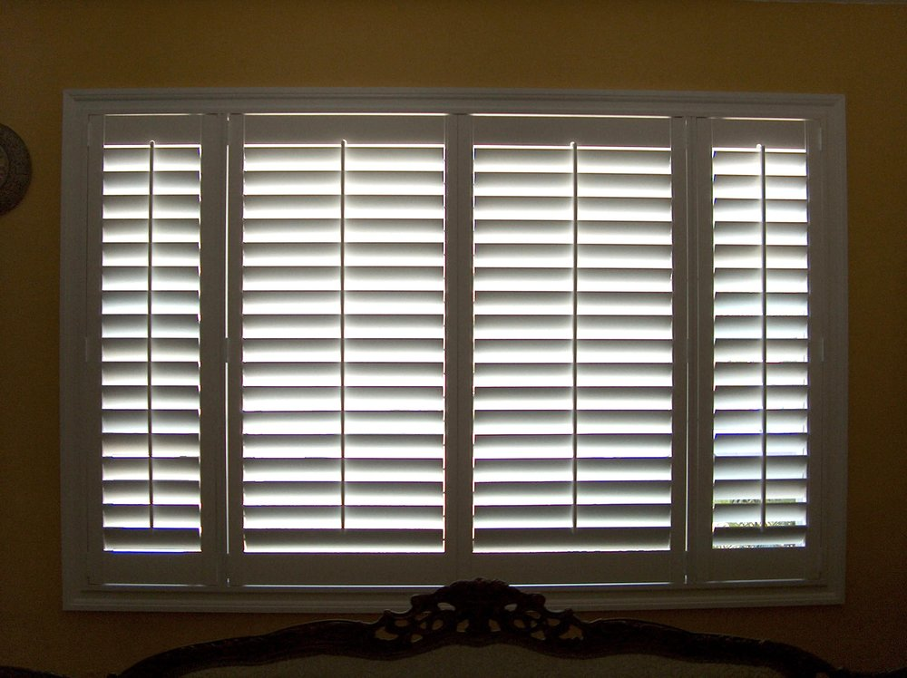 White Painted Basswood Shutters