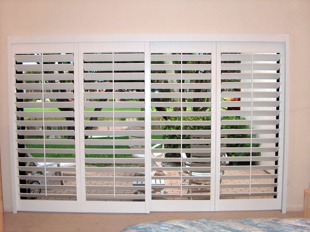 "Basswood Shutters with 4 1/2"" Louver Slats"