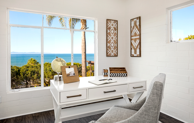 Photo by  Elevated Horizon ; home staging office Santa Barbara