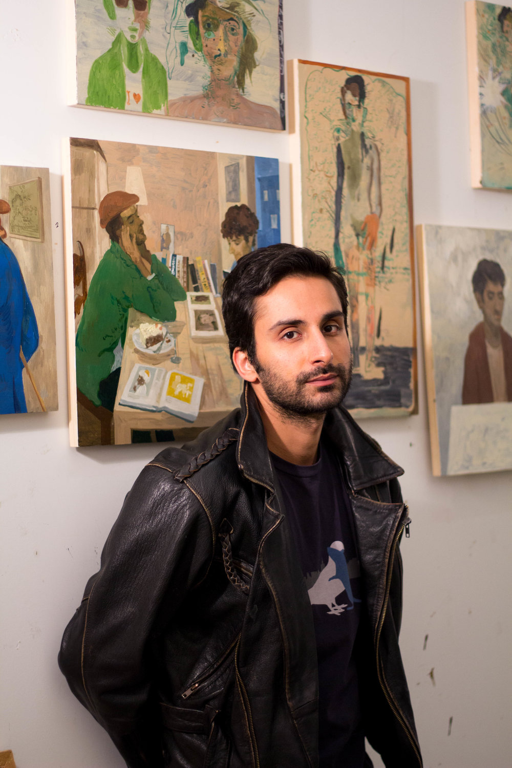 A  visual artist  from Lahore, Pakistan currently living in New York City. His work oscillates between autobiography, Art History, and Pop Culture.