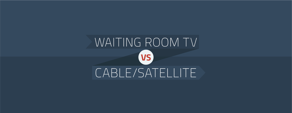 waiting room tv markets your brand better than cable or satellite tv