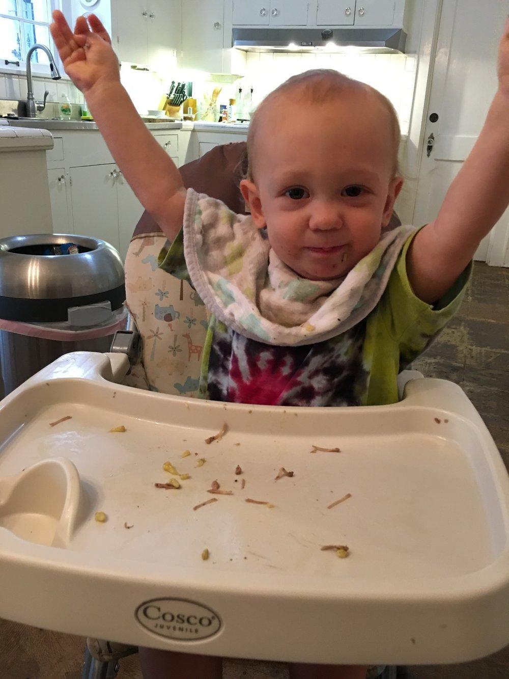 The kid loves jackfruit.