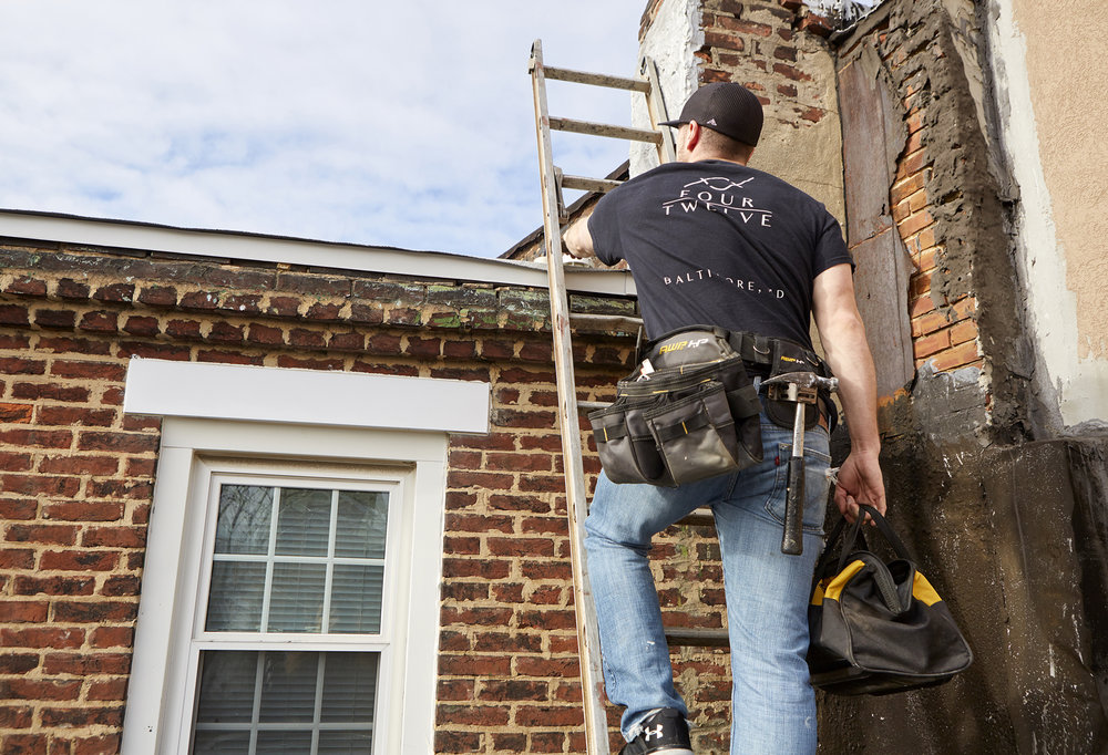 Four Twelve is a trusted roofer in Baltimore. We handle repairs and replacements of asphalt, flat roofs, and gutters.