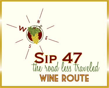 Sip 47 is a grassroots effort of wineries, farms and businesses along NW Oregon's Highway 47 who want to share their love of the land and their passion for its bounty with you. Since 2005 the group has encouraged travelers to take the Route Less Traveled – Route 47.