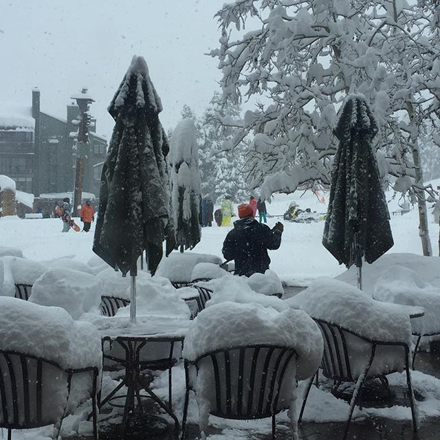 Join me for drinks on the snow terrace ?