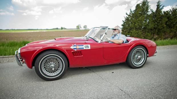 Rob Myers, driving his 1963, Shelby 289 Cobra, built RM Auctions into a world leader in classic car sales. (Geoff Robins/The Globe and Mail)