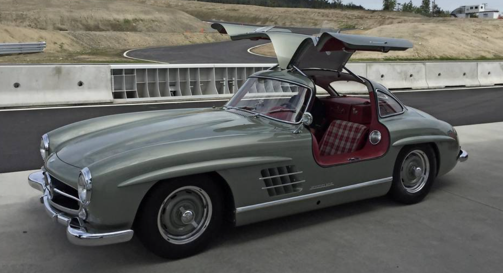 Rudi Koniczek's personal 1954 300 SL Gullwing, shown on display at the Vancouver Island Motorsport Circuit. Koniczek is a founding member of the new country club track near Victoria.