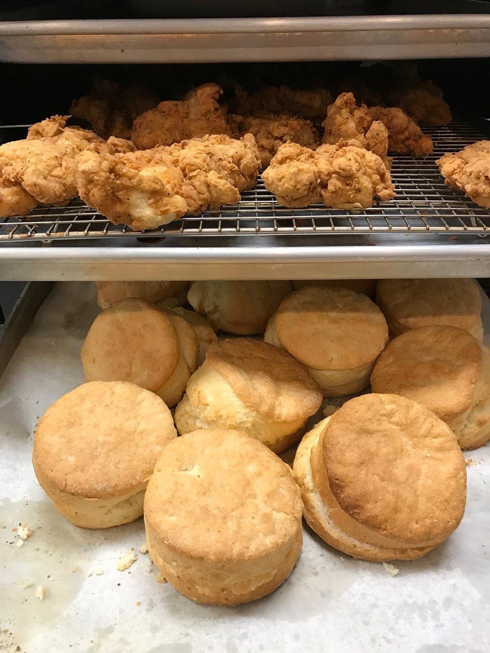 Brunch: chicken & biscuits