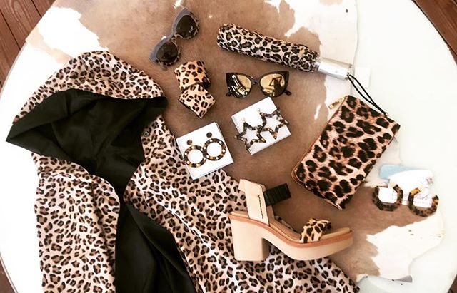 Life is Purrfect in Leopard! 🐆🐅🦓 #leopard #cheetah #animal #print #shoes #highheels #comfort #raincoat #umbrella #jewelry #earrings #tortishell #cuffs #bracelets #handbags #clutch #sunglasses #readers #fashion #fashionista #style #shopping #onefishtwofish #onefishstore