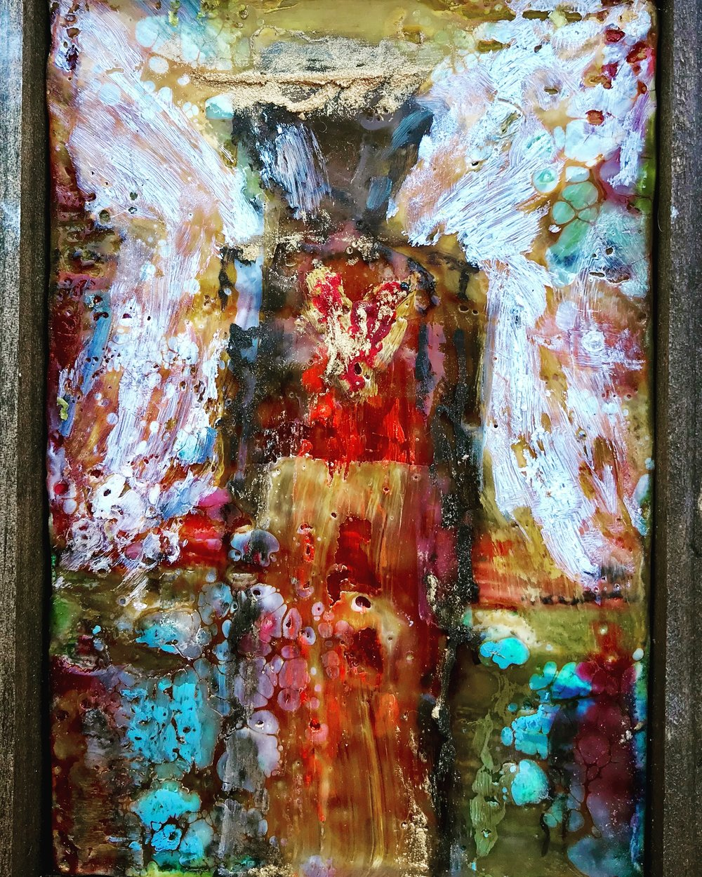 """I Am With You"" Come away and experience hearing the whispers of God while creating beauty with acrylic art!"
