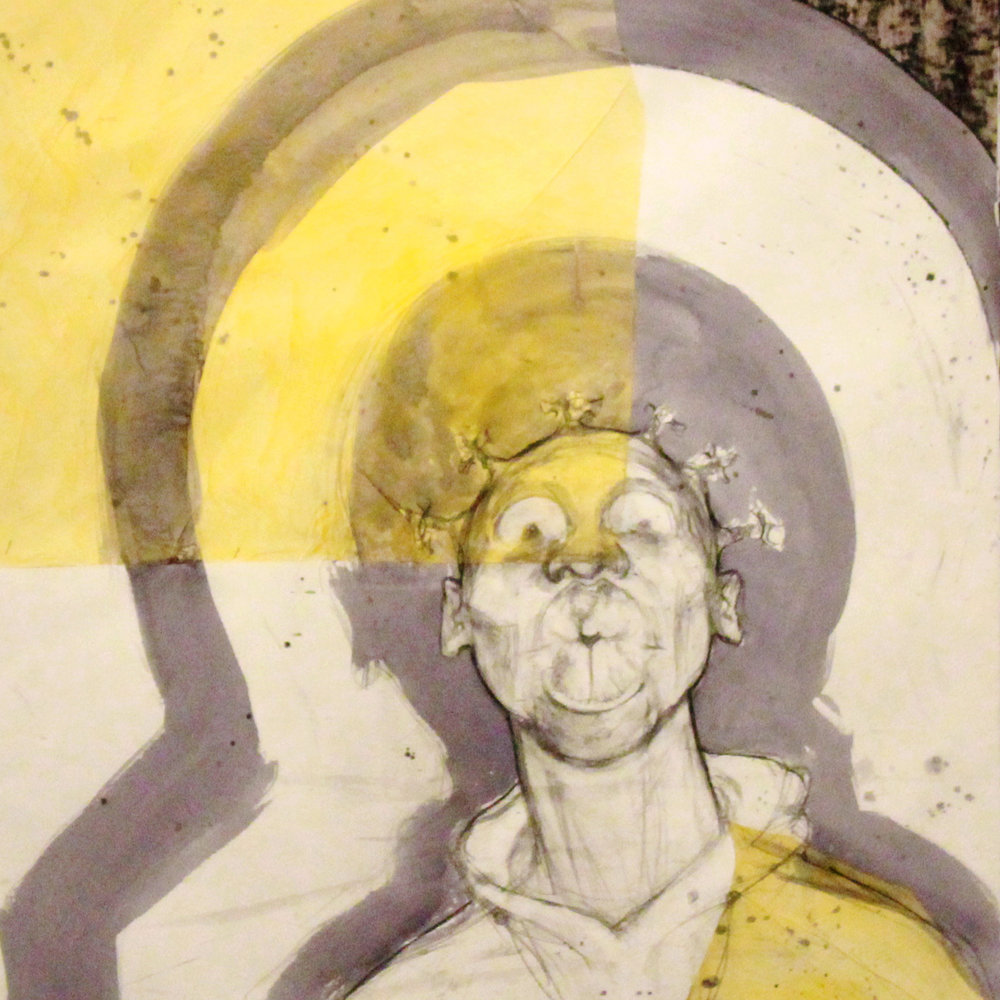 Damond Howard  <br> You Lie (Stand Your Ground series), <br>2014 <br>Mixed Media on paper <br>22 x 30 inches <br>Retail value: $2500