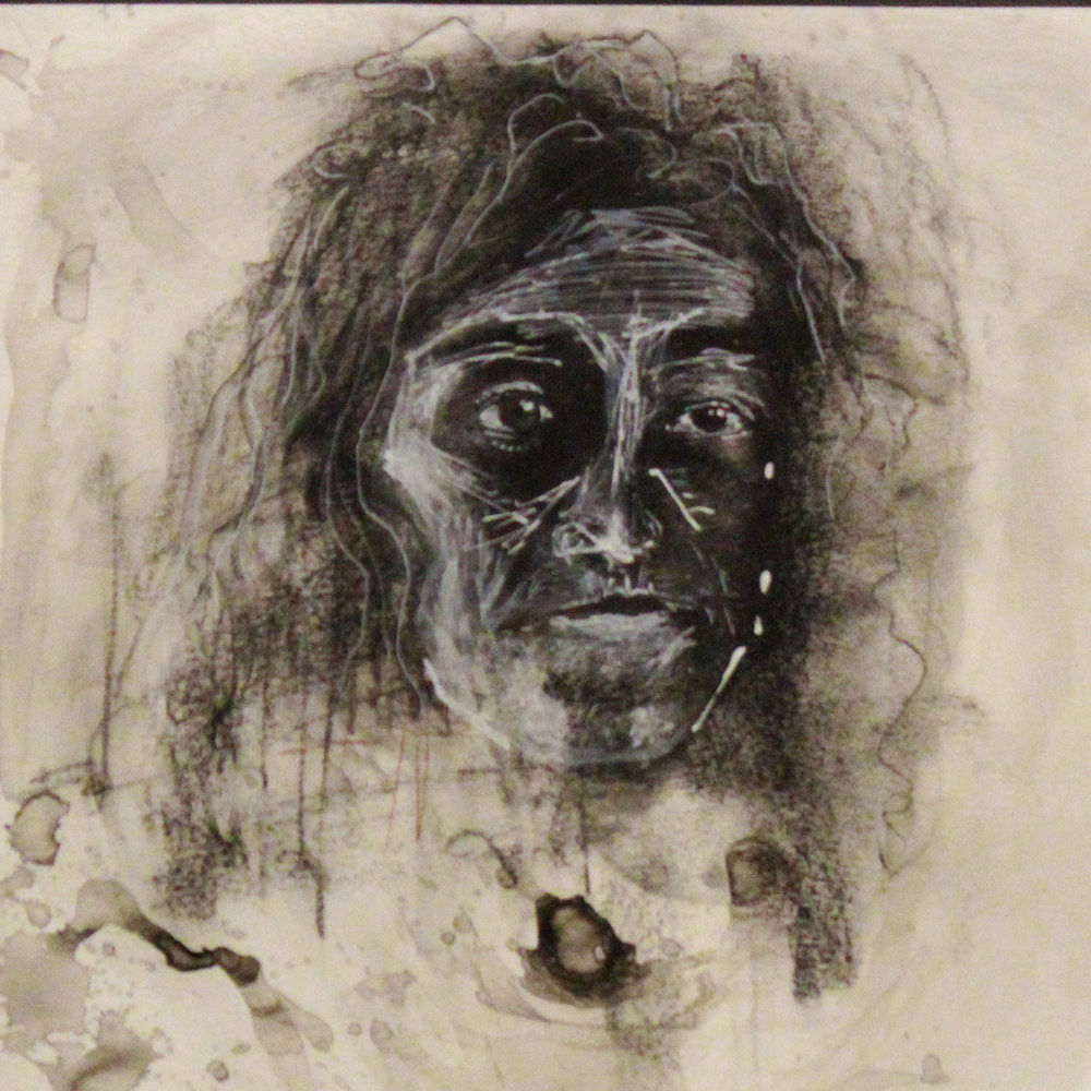 Kristyn Larsen <br>Untitled, 2016 <br>Charcoal and ink on paper <br>20 x 30 inches <br>Retail value: $200