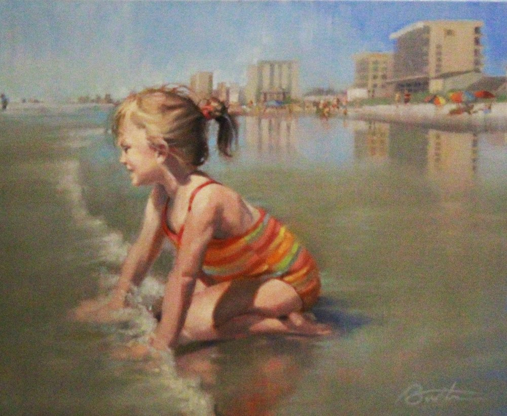 Todd Baxter <br>Princess of the Tides, <br>2014 <br>Oil on canvas <br>20 x 16 inches <br>Retail value: $1400