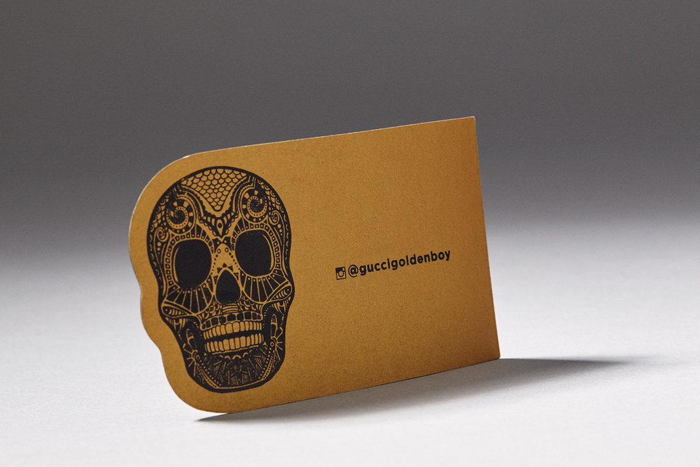 Black Die Cut Business with Card Gold Foil — Alpine Creative Group