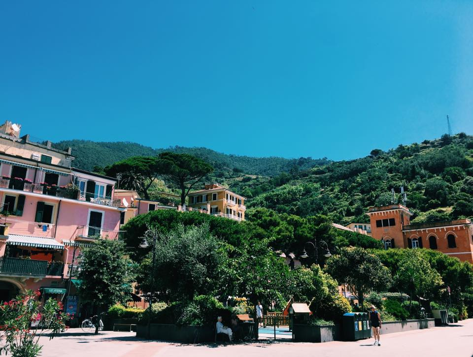 Part of the main square in Monterosso.